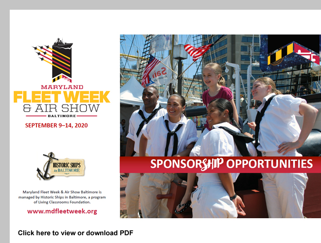 Maryland Fleet Week & Air Show Baltimore has Sponsorship Opportunities