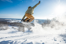 Snowboarder at WiSP resort by Karlo Gesner Photography