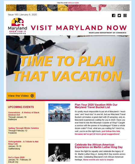 Visit Maryland Now - January 8, 2020
