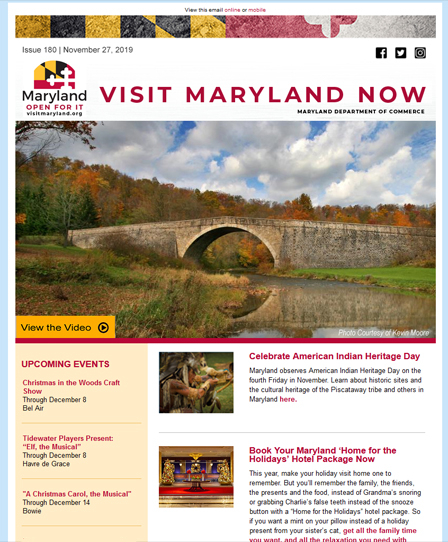 Visit Maryland Now - November 27, 2019