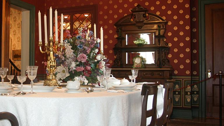 dining room of historic house