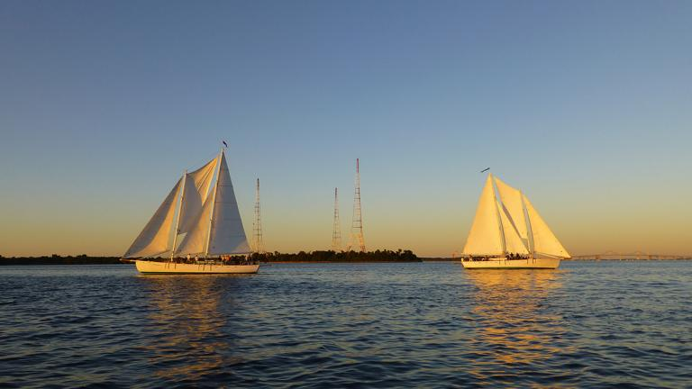 Schooner Woodwind at Sunset