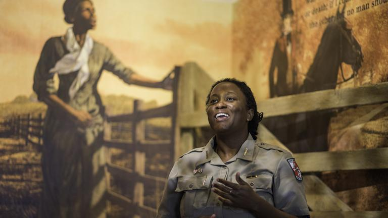 Harriet Tubman Underground Railroad Visitor Center with Ranger