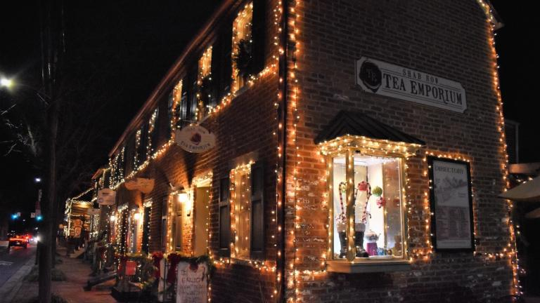 Downtown Frederick with Holiday Lights