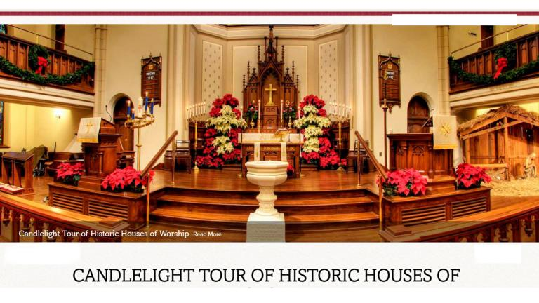 Candlelight Tour of Historic Houses of Worship, Frederick