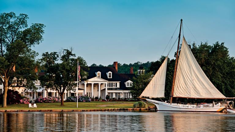 Take in the tranquil water views at this popular Eastern Shore inn.