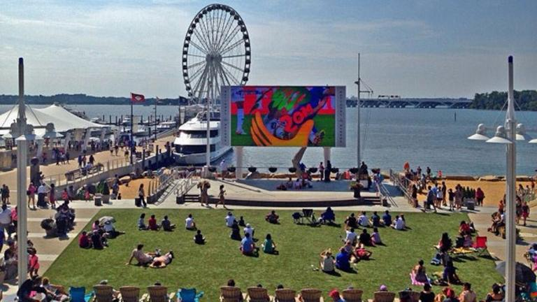 Outdoor Movies on Jumbotron, National Harbor
