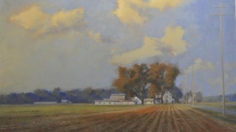 A painting of an Easton farm by Henry Coe