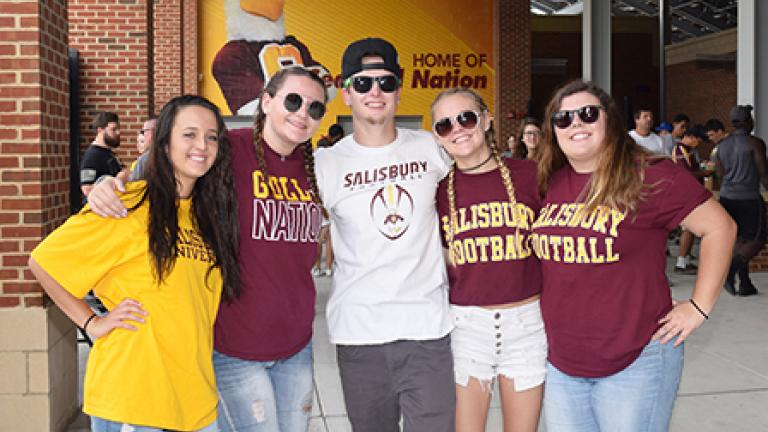 Students at Salisbury University