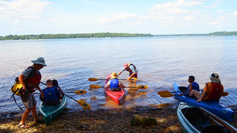 Kayaking at the Capt. John Smith Trail at Piscataway Park