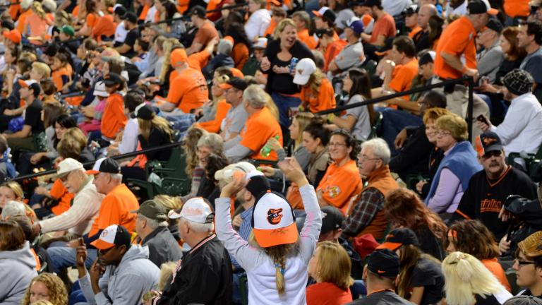 Ball Snatch at a Baltimore Orioles Game