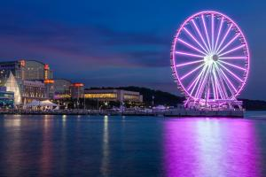 The Capital Wheel at National Harbor at Night