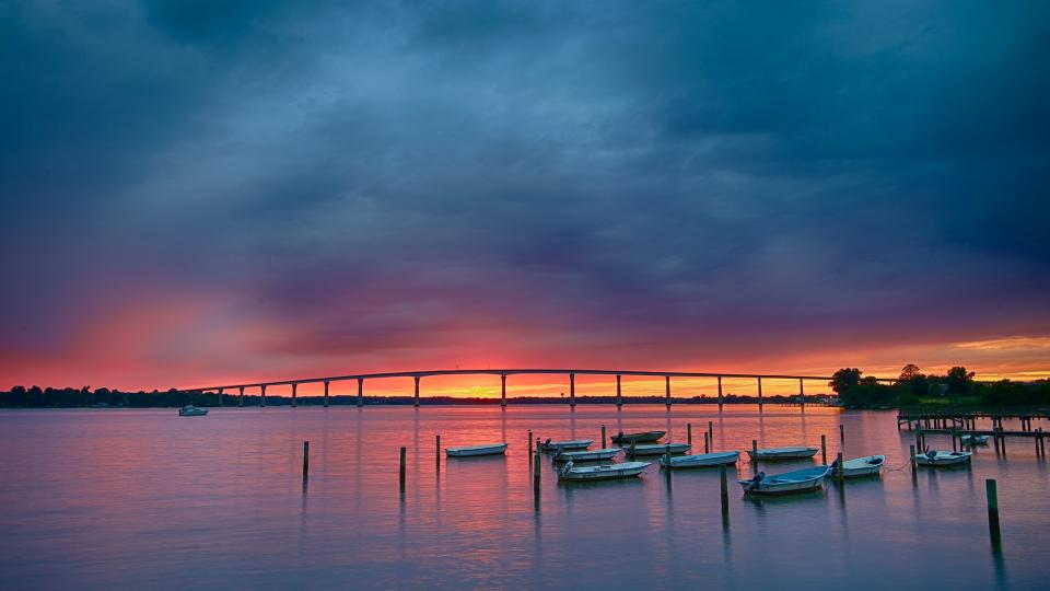 Cloudy Sunset in Solomons Island PAX to