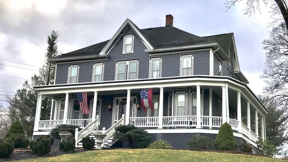 grey Victorian inn