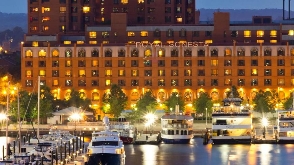 This 5-star hotel is right on Baltimore's Inner Harbor and blocks from Camden Yards.