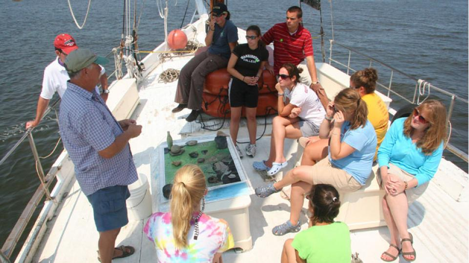 tour on Chesapeake Bay waters on the historic skipjack H.M. Krentz