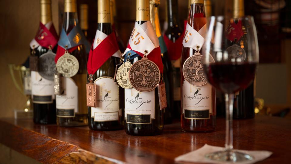 Award Winning Wines at Crow Vineyard