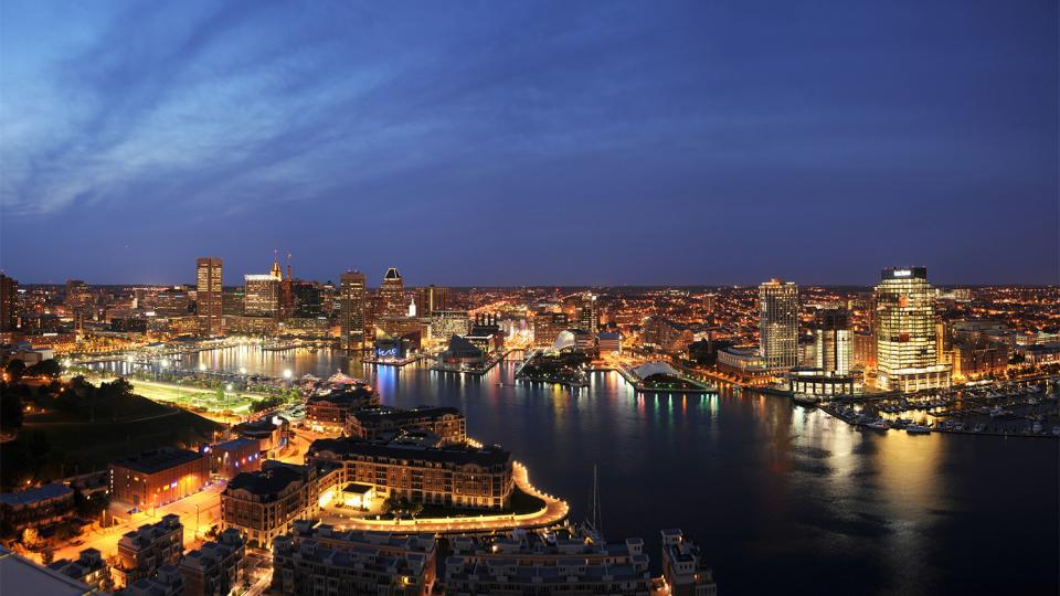 Baltimore Harbor evening