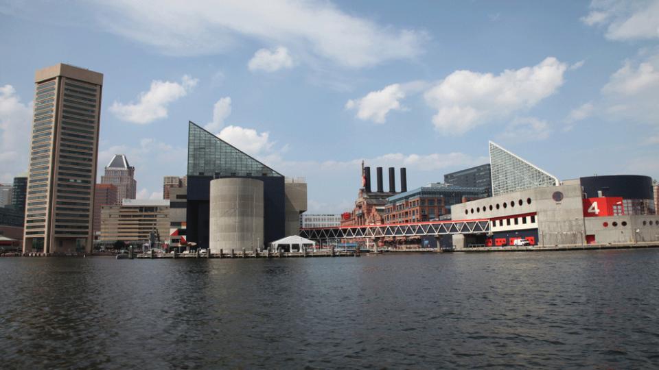 Baltimore Harbor with the National Aquarium
