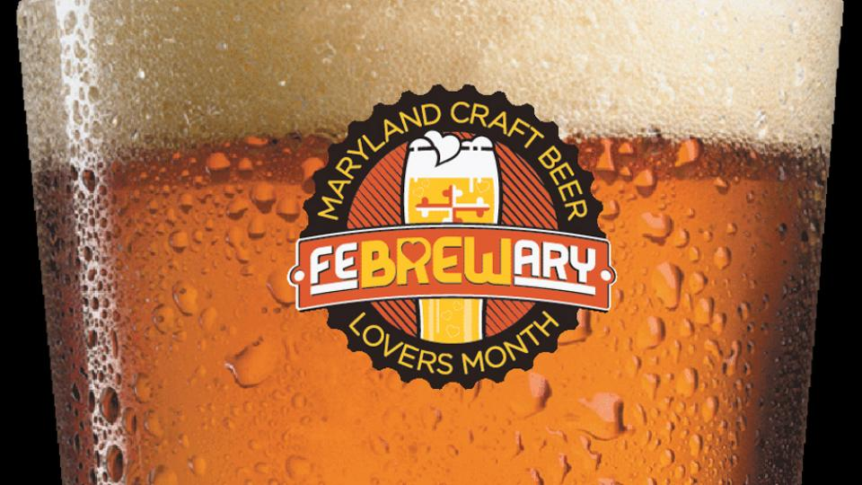 Glass of Beer with FeBREWary logo
