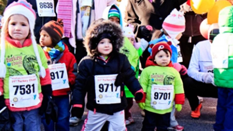 Young kids in turkey trot