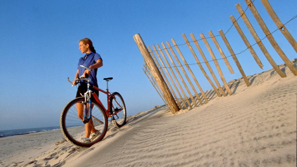 Biking is a great way to experience Assateague Island. Enter the island from the Visitor's Center over a dedicated pedestrian/bike bridge and ride on paved paths through 4 miles of natural habitat.