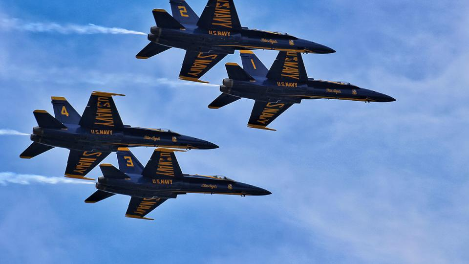 Blue Angels in Annapolis during Naval Academy Commissioning