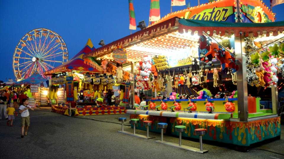 Games And Rides At The Maryland State Fair