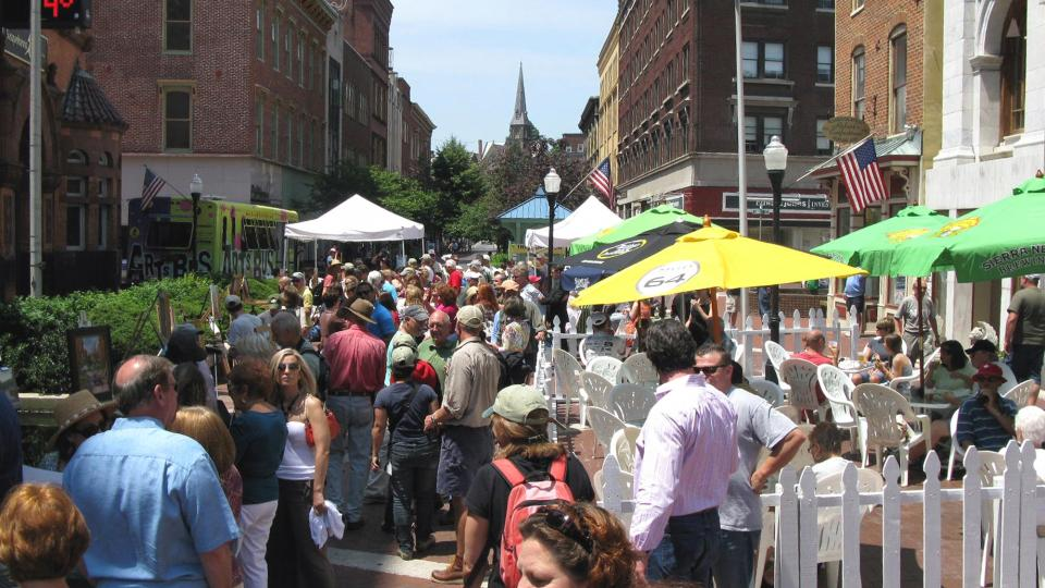 The Cumberland Arts & Entertainment District is home to the annual Mountain Maryland Plein Air Event.