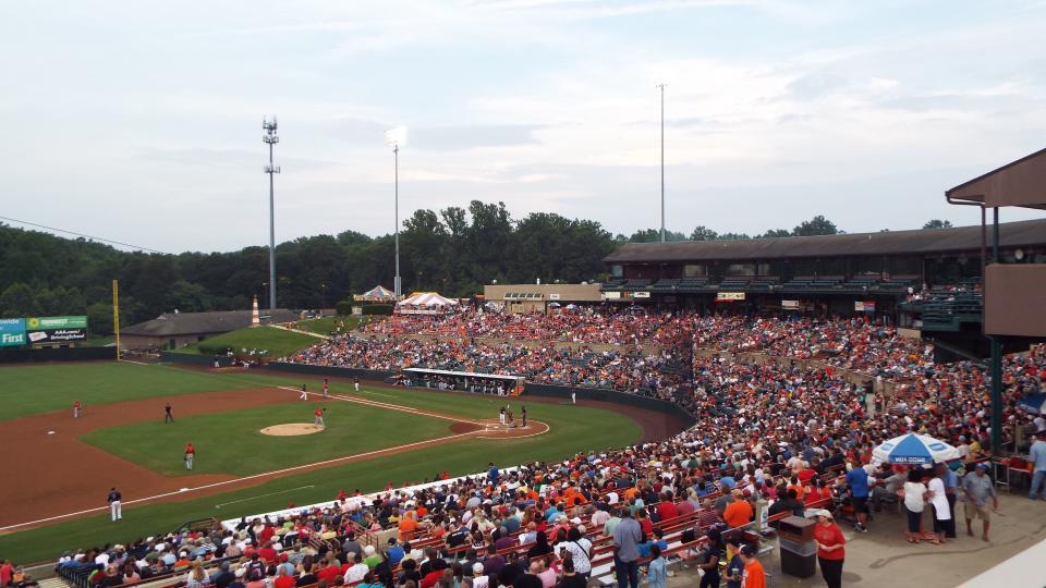 Baysox baseball game