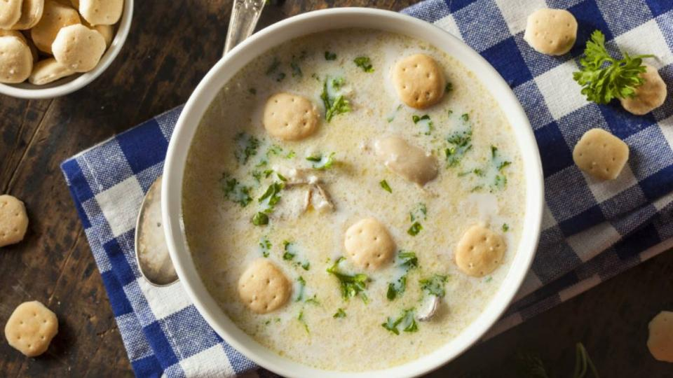 bowls of oyster stew