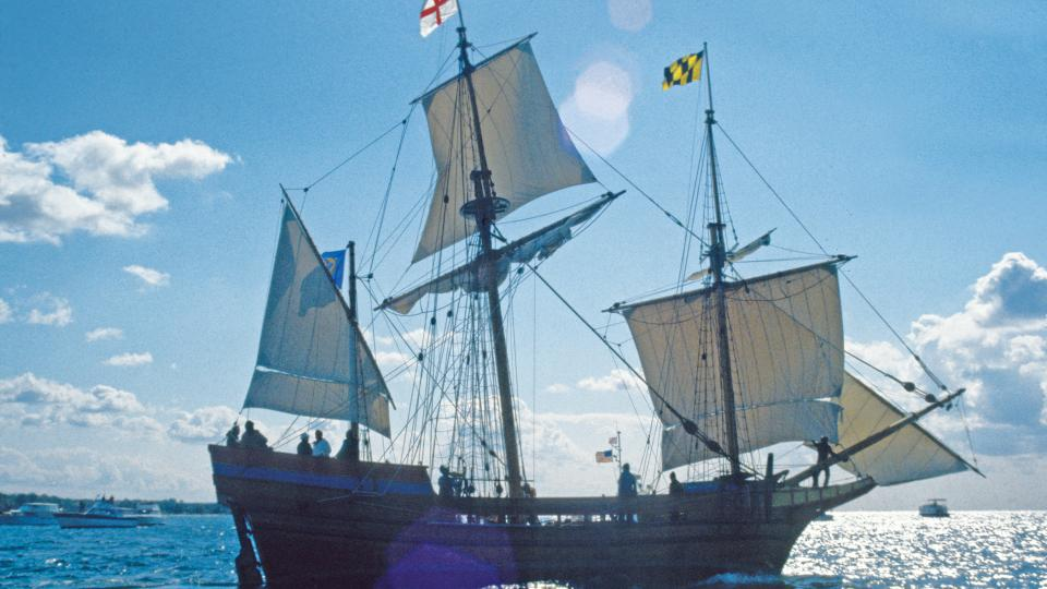 Step onboard the Maryland Dove in Historic St. Mary's City.