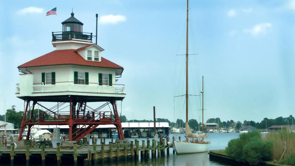 Drum Point Lighthouse at The Calvert Marine