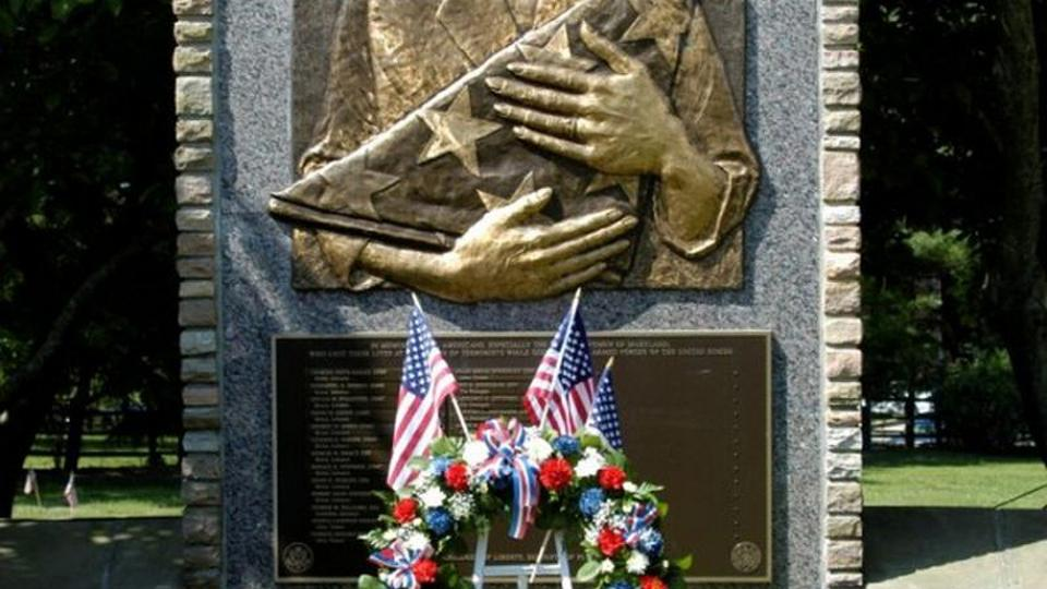 Veterans Memorial at the Dulaney Valley Memorial Gardens