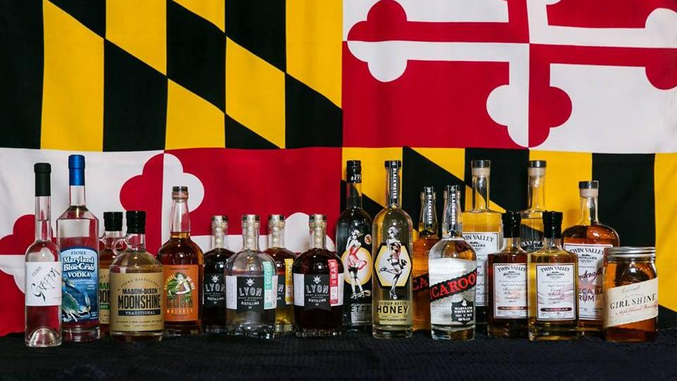 Bottles of Spirits Distilled in Maryland