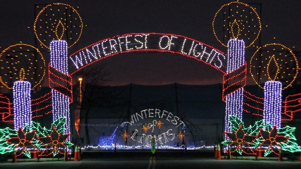 Holiday lights in Ocean City Holiday Light