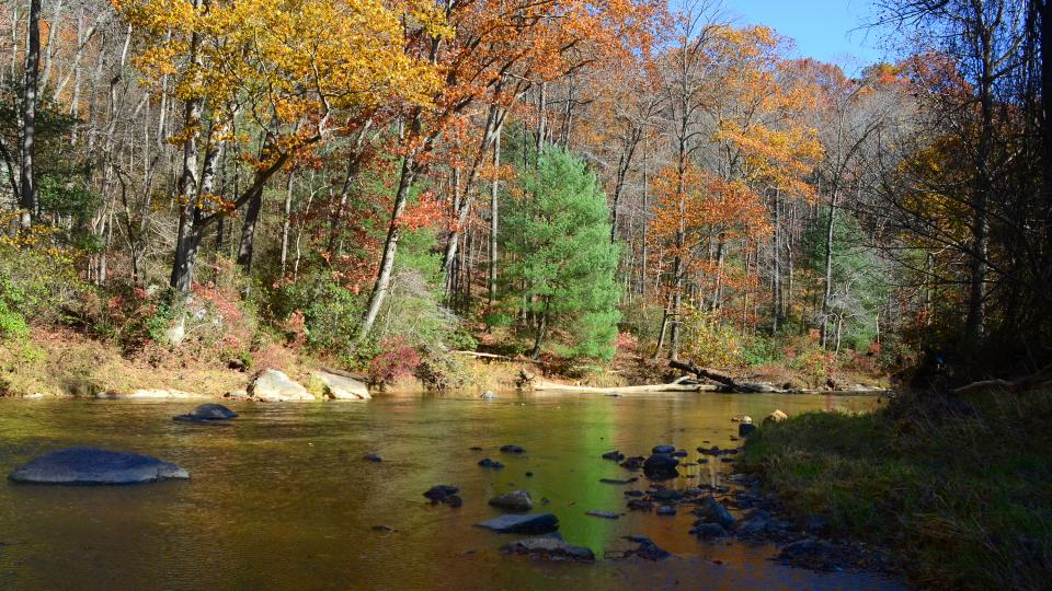 See the autumn leaves at their best along this Harford County river.