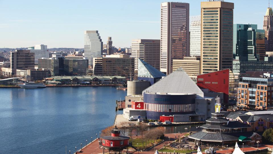 Baltimore Inner Harbor from the Four Seasons Hotel and Resort