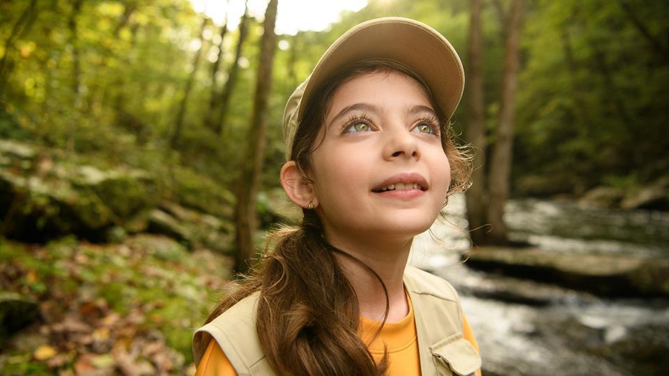 Girl enjoying the outdoors