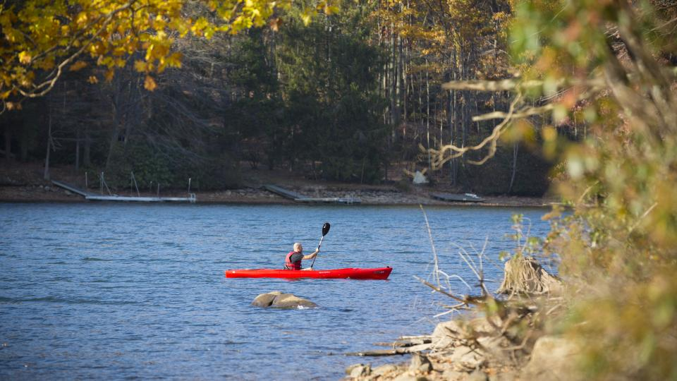 Kayaking on Deep Creek Lake