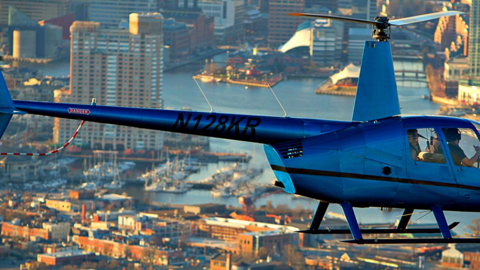 See the sites of Maryland from above with a tour by Monumental Helicopters.