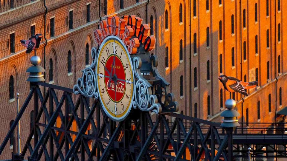 Clock at Oriole Park