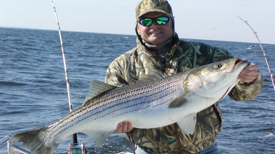 Bill Miles displaying his rockfish