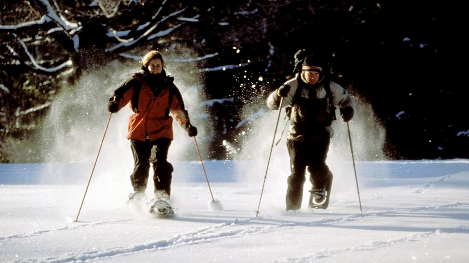 Winter sports are hot in Maryland. Try snowshoeing in the mountains out West.