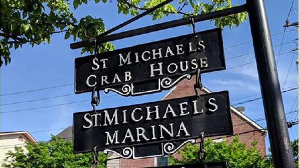 St. Michaels signs