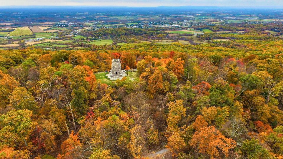 Aerial of the Washington Monument State Park