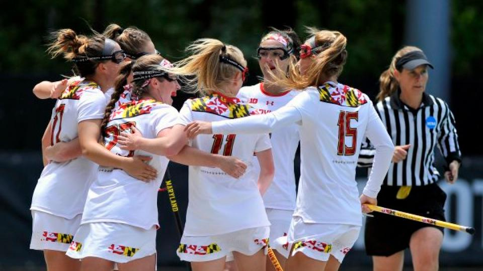 Maryland women's lacrosse players