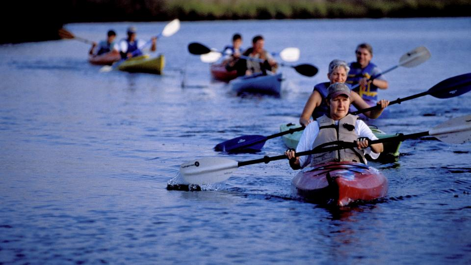 Kayakers near Janes Island
