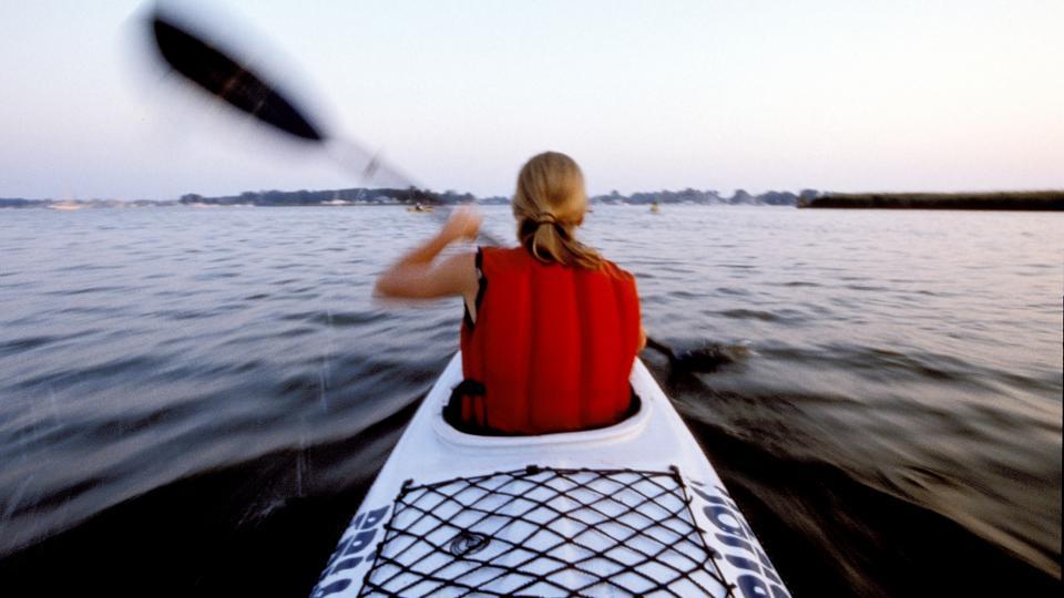 Kayaking near Janes Island