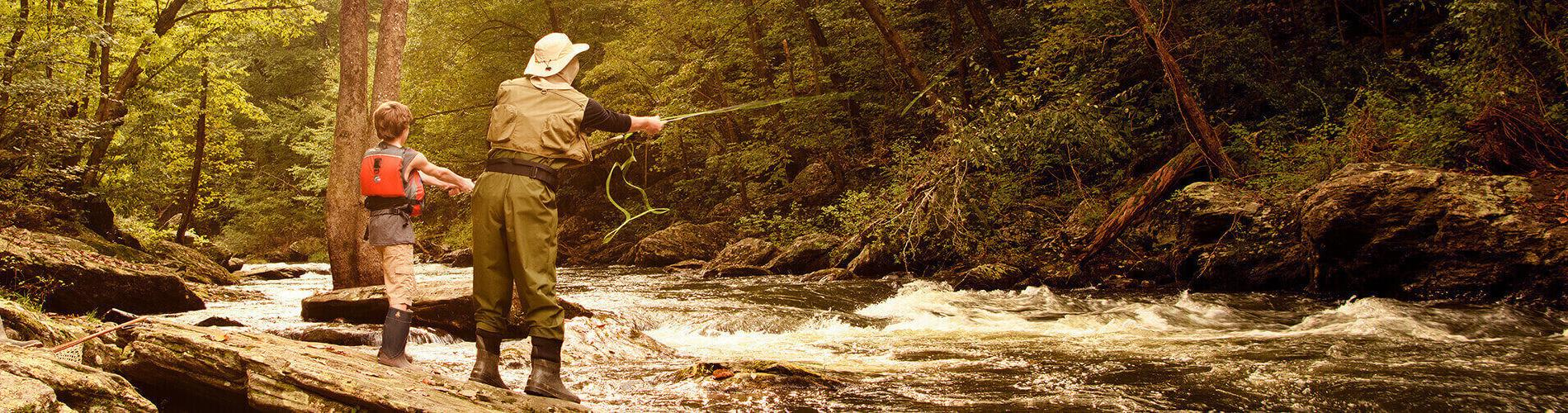Fly fishing in Western Maryland